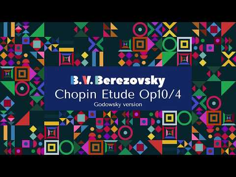 Boris Berezovsky - Chopin Etude Op10/4, Godowsky version